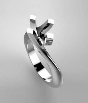 Montatura per anello solitario 131-ECO