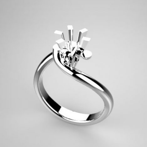 Montatura per anello solitario 371-5929