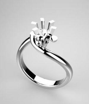 Montatura per anello solitario 371-5929-SMALL
