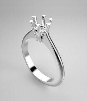 Montatura per anello solitario 42-F-SMALL