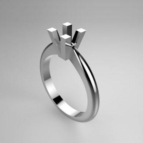 Montatura per anello solitario 44-ECO