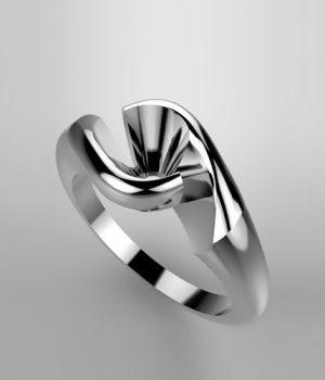 Montatura per anello solitario 5831-ECO