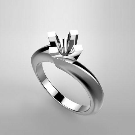 Montatura per anello solitario 6786-ECO