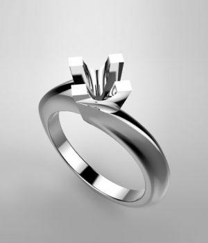 Montatura per anello solitario 6786-SMALL