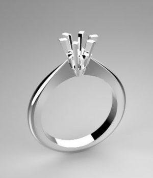 Montatura per anello solitario 6810-5929-ECO