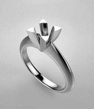 Montatura per anello solitario 7093-ECO