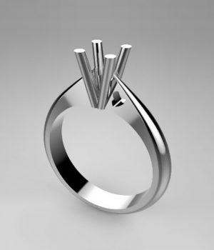 Montatura per anello solitario 7539-SMALL