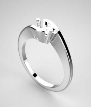 Montatura per anello solitario 7762-SMALL
