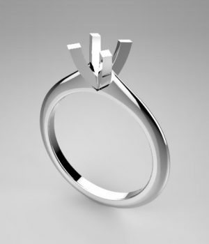 Montatura per anello solitario 7872-SMALL