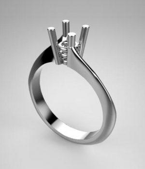 Montatura per anello solitario 7898-UNI