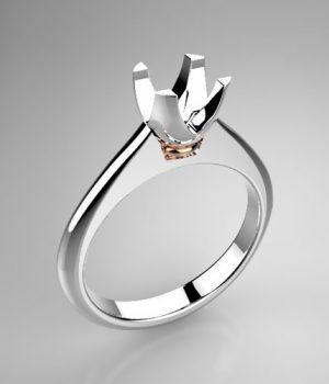 Montatura per anello solitario 7919-SMALL