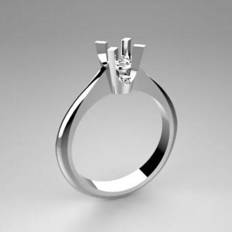Montatura per anello solitario 8009-SMALL