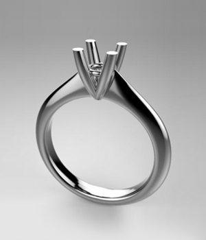 Montatura per anello solitario 8026-UNI