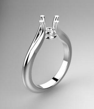 Montatura per anello solitario 8029-UNI