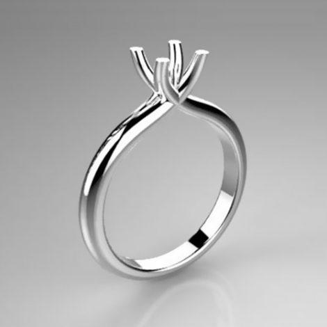 Montatura per anello solitario 8053-UNI
