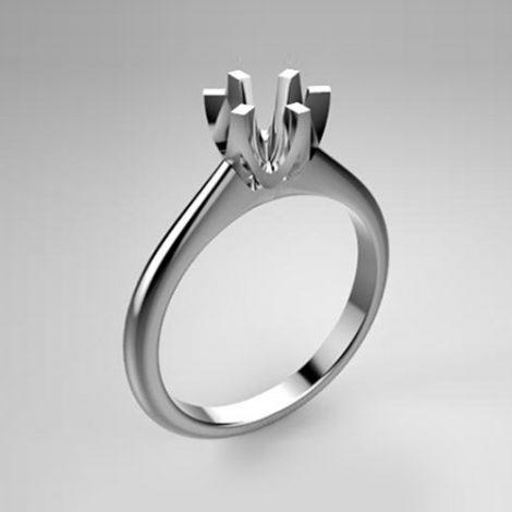 Montatura per anello solitario 8057-SMALL