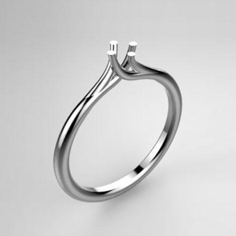 Montatura per anello solitario 8123-SMALL