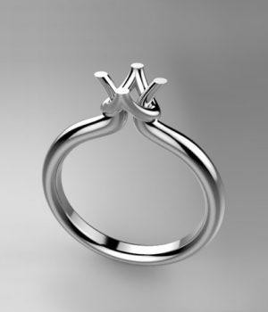 Montatura per anello solitario 8168-SMALL