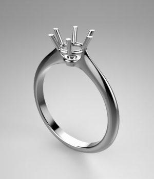 Montatura per anello solitario 8186-UNI