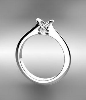 Montatura per anello solitario 8616-SMALL