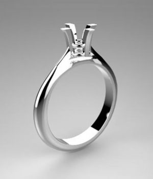 Montatura per anello solitario 7837-UNI