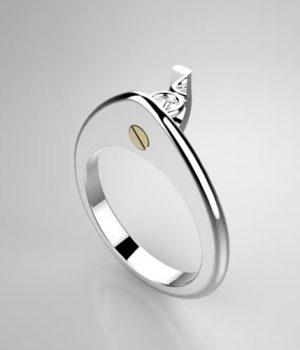 Montatura per anello solitario 7904-SMALL